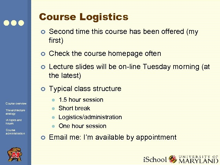 Course Logistics ¢ Second time this course has been offered (my first) ¢ Check