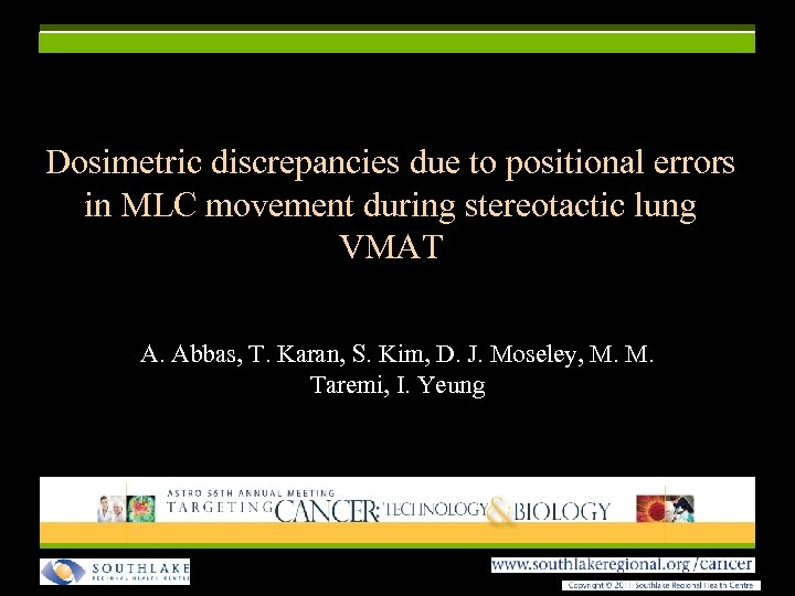 Dosimetric discrepancies due to positional errors in MLC movement during stereotactic lung VMAT A.