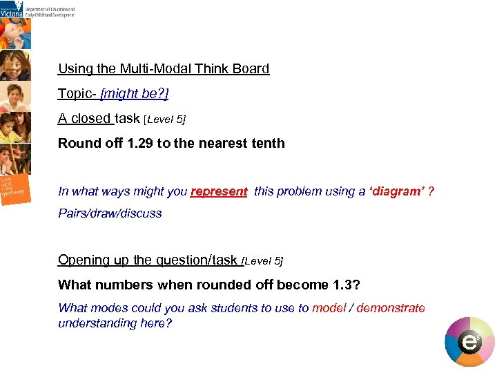Using the Multi-Modal Think Board Topic- [might be? ] A closed task [Level 5]
