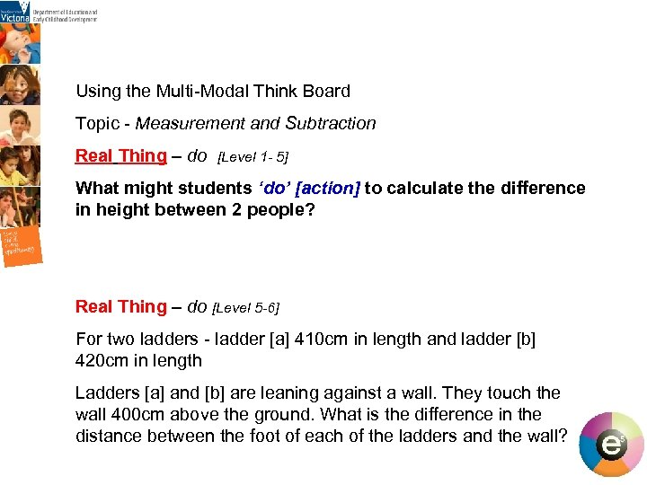 Using the Multi-Modal Think Board Topic - Measurement and Subtraction Real Thing – do