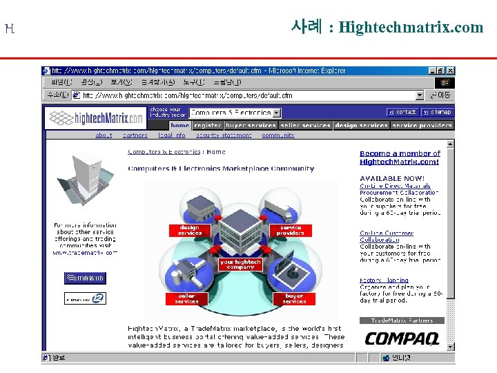 H 사례 : Hightechmatrix. com