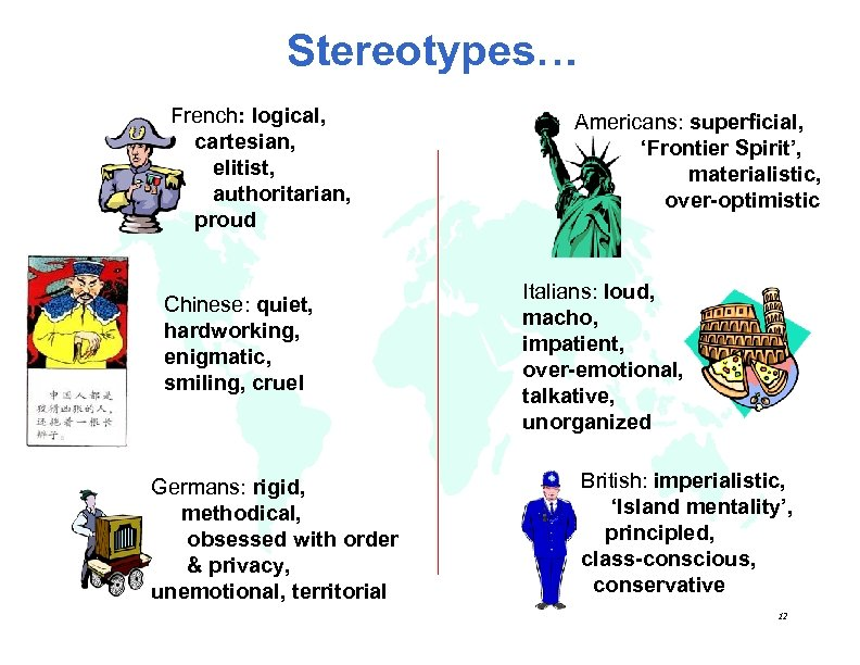 analysis of national and cultural stereotypes National cultural differences are important when we travel or do business abroad and as migration drives greater domestic diversity, these differences are the danger in stereotypes every individual identifies with several cultural groups at once so every individual is a complex combination of.