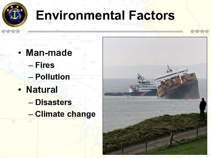Environmental Factors • Man-made – Fires – Pollution • Natural – Disasters – Climate