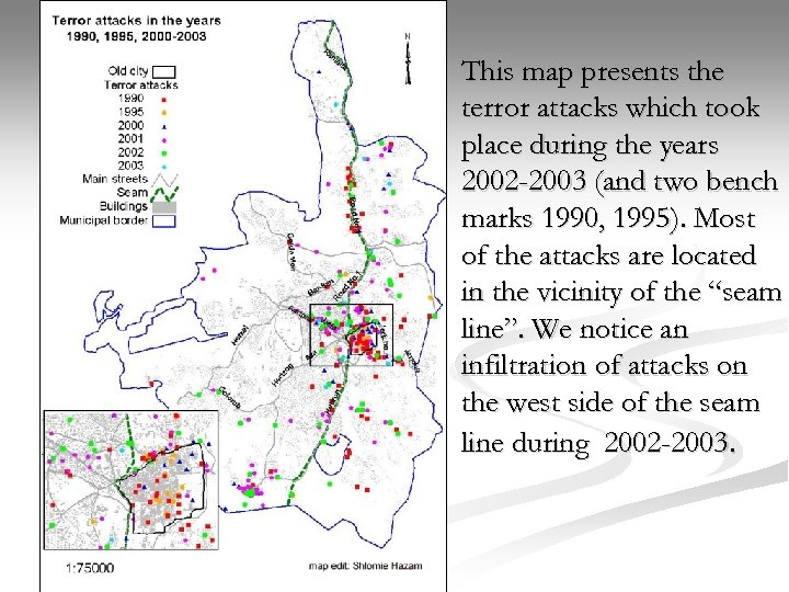 This map presents the terror attacks which took place during the years 2002 -2003