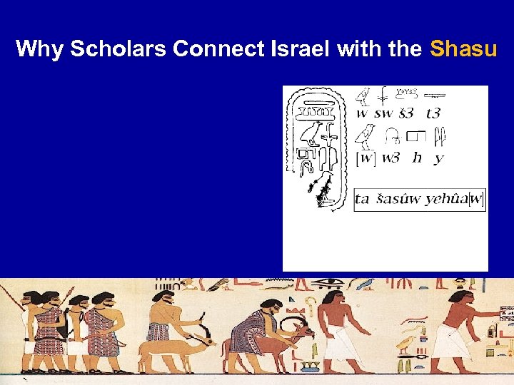 Why Scholars Connect Israel with the Shasu