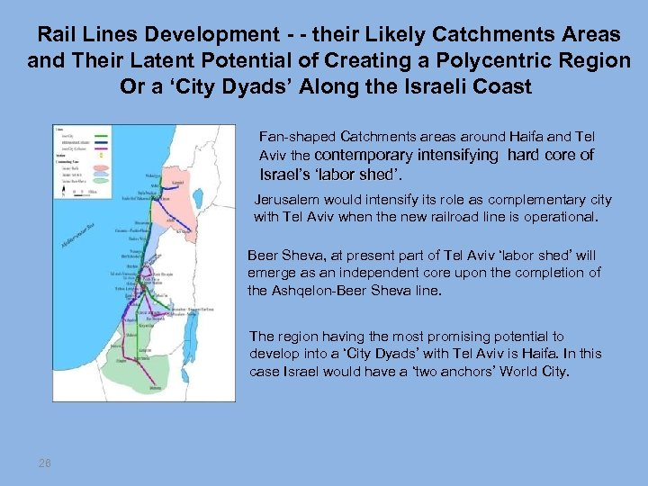 Rail Lines Development - - their Likely Catchments Areas and Their Latent Potential of