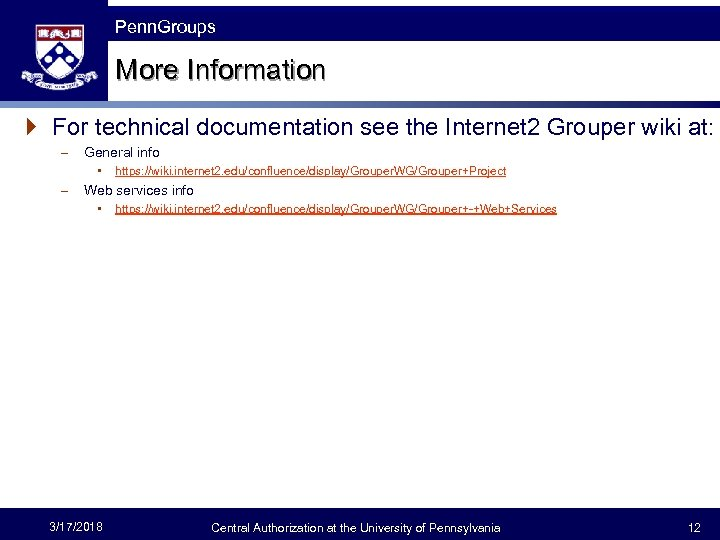 The Fast Framework Penn. Groups More Information } For technical documentation see the Internet