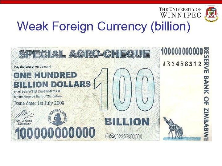 Weak Foreign Currency (billion)
