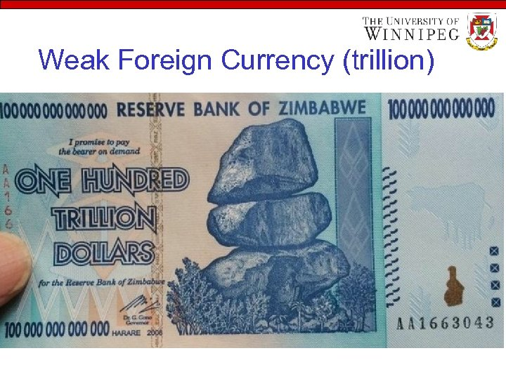 Weak Foreign Currency (trillion)