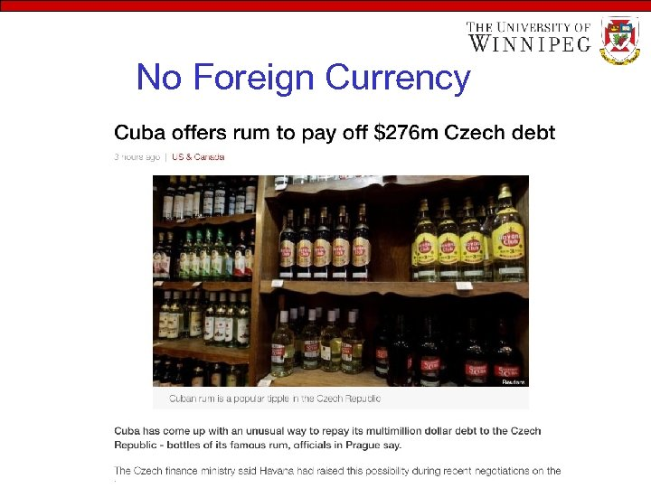 No Foreign Currency