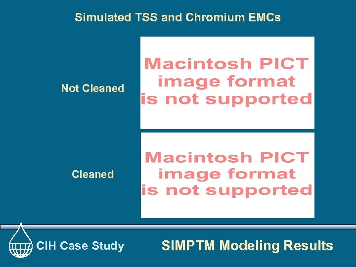 Simulated TSS and Chromium EMCs Not Cleaned CIH Case Study SIMPTM Modeling Results