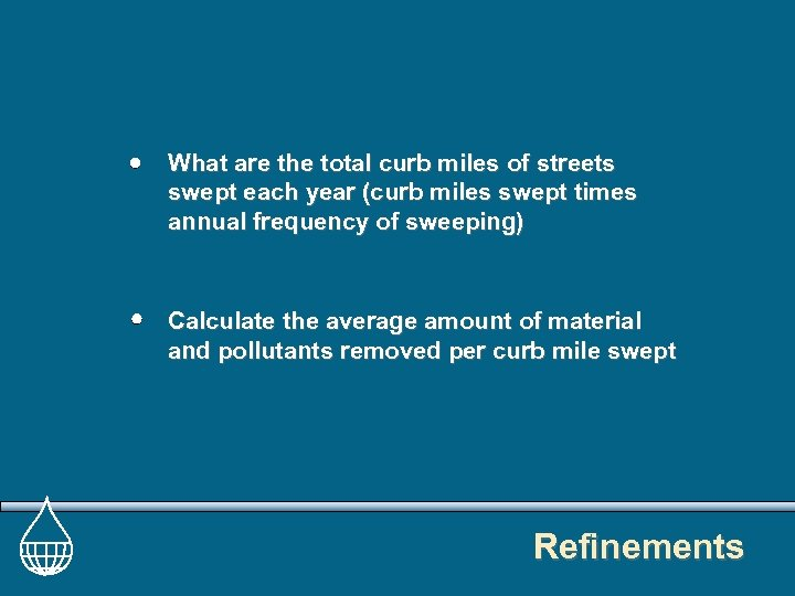 What are the total curb miles of streets swept each year (curb miles swept