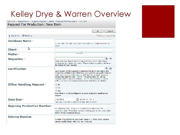 Kelley Drye & Warren Overview