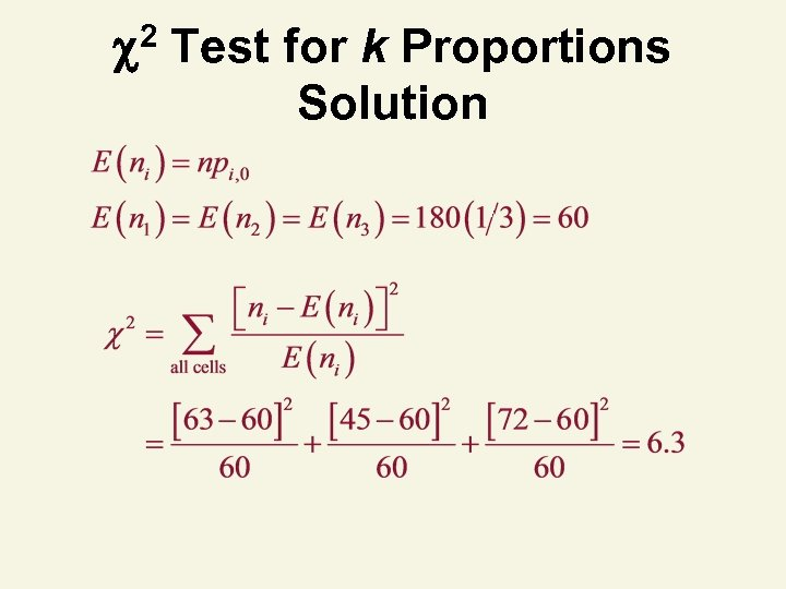 2 Test for k Proportions Solution