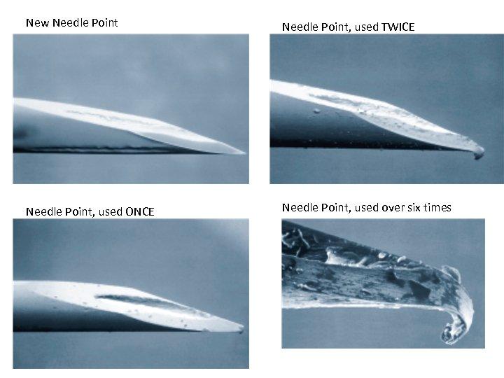 New Needle Point, used TWICE Needle Point, used ONCE Needle Point, used over six