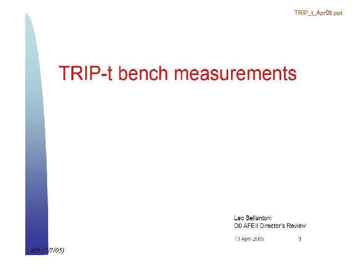 TRIP_t_Apr 05. ppt MR (7/7/05)