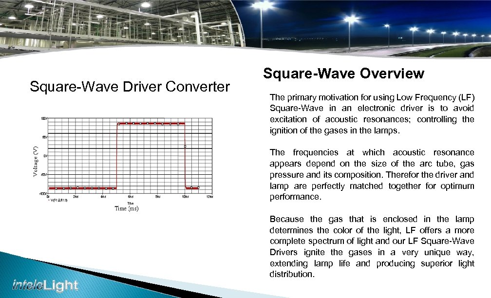 Square-Wave Driver Converter Square-Wave Overview The primary motivation for using Low Frequency (LF) Square-Wave
