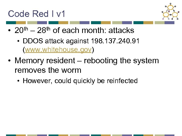 Code Red I v 1 • 20 th – 28 th of each month: