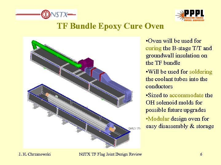 TF Bundle Epoxy Cure Oven • Oven will be used for curing the B-stage