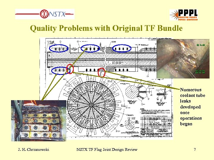 Quality Problems with Original TF Bundle Numerous coolant tube leaks developed once operations began
