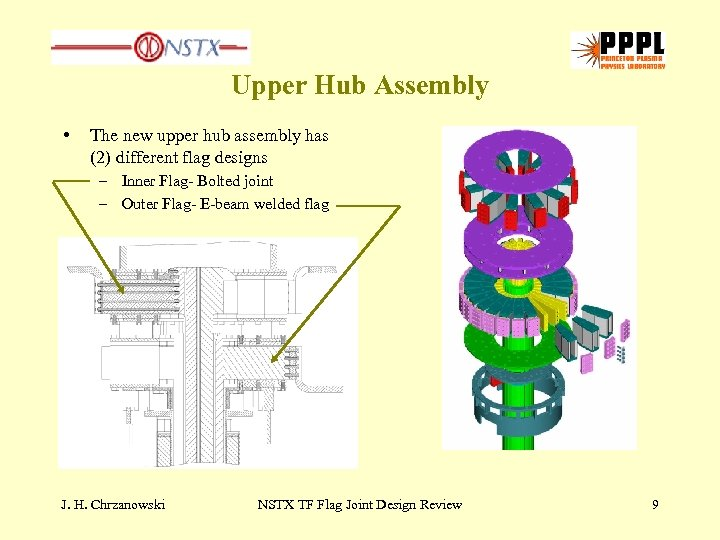 Upper Hub Assembly • The new upper hub assembly has (2) different flag designs