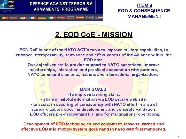 ITEM 8 EOD & CONSEQUENCE MANAGEMENT 2. EOD Co. E - MISSION EOD Co.