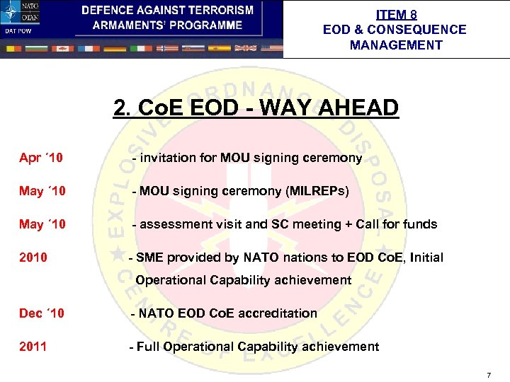 ITEM 8 EOD & CONSEQUENCE MANAGEMENT 2. Co. E EOD - WAY AHEAD Apr