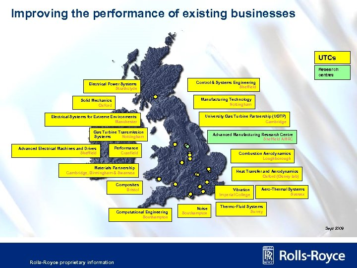 Improving the performance of existing businesses UTCs Research centres Electrical Power Systems Strathclyde Control