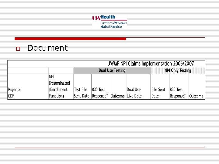 o Document