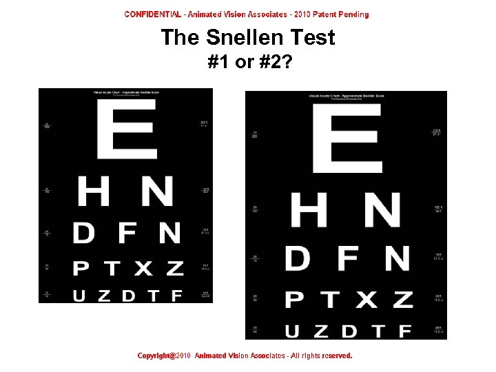 The Snellen Test #1 or #2?