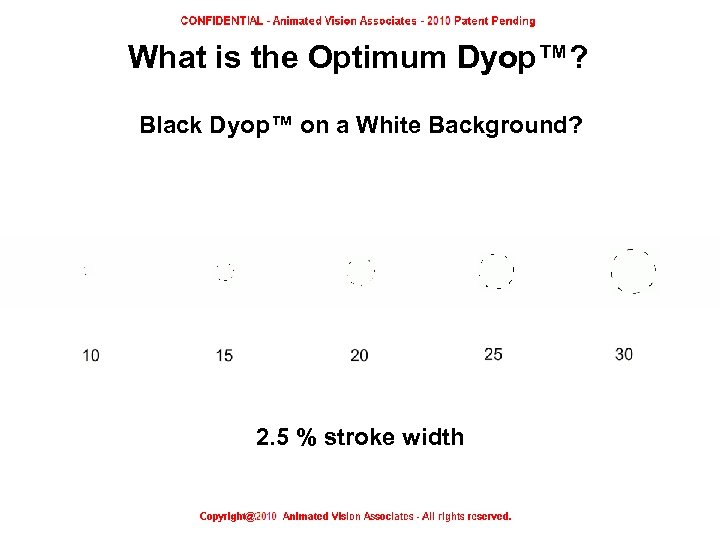 What is the Optimum Dyop™? Black Dyop™ on a White Background? 2. 5 %