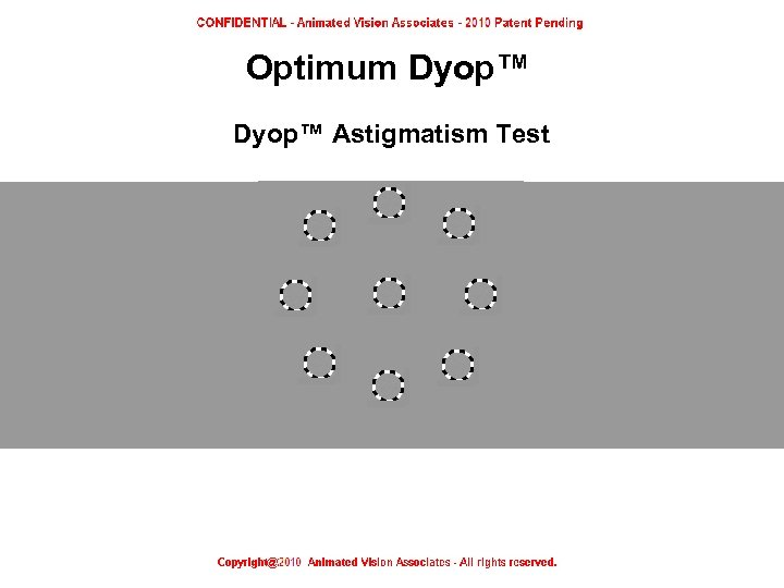 Optimum Dyop™ Astigmatism Test