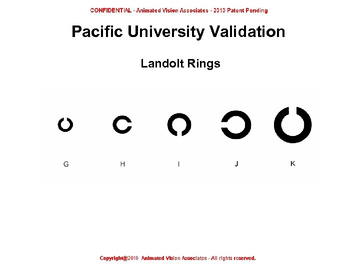 Pacific University Validation Landolt Rings