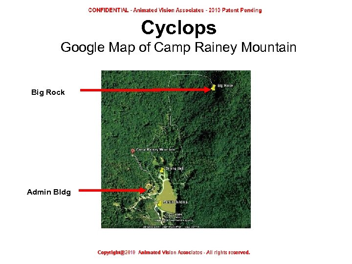 Cyclops Google Map of Camp Rainey Mountain Big Rock Admin Bldg Google Map of