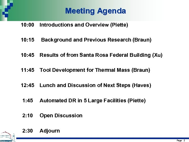 Meeting Agenda 10: 00 Introductions and Overview (Piette) 10: 15 Background and Previous Research