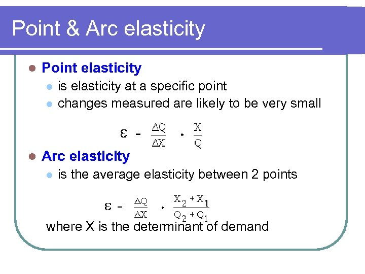 Elasticity Of Demand Supply Topic 2 B