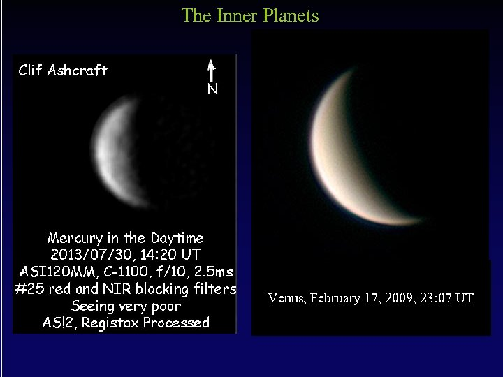 The Inner Planets Venus, February 17, 2009, 23: 07 UT