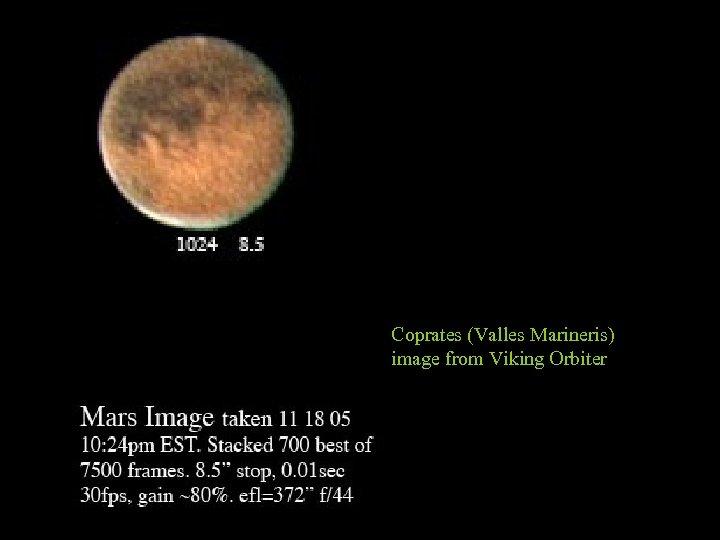 Coprates (Valles Marineris) image from Viking Orbiter