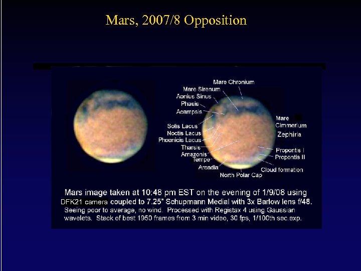 Mars, 2007/8 Opposition DFK 21 camera