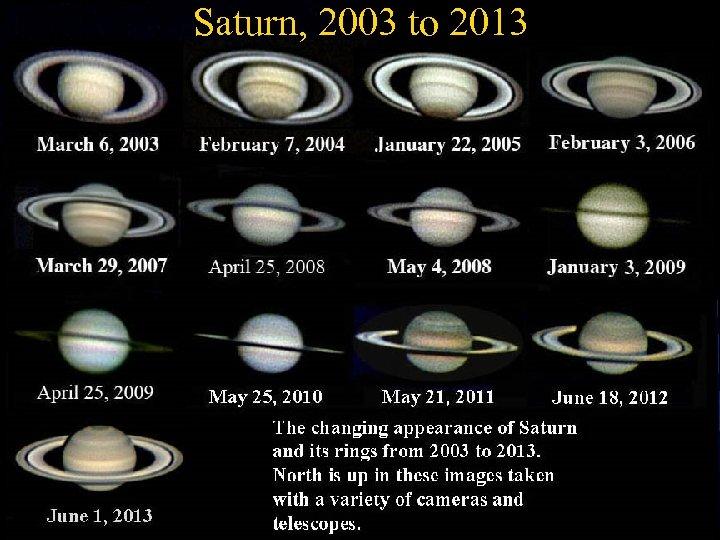 "Saturn, 2003 to 2013 April. 2 2003, 2. 5 x Barflow Lens 10"" f/6"