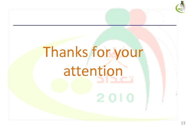 Thanks for your attention 13