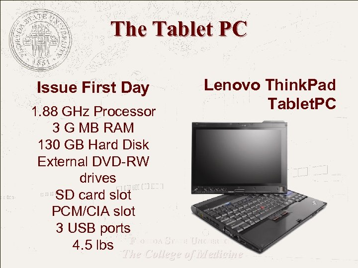 The Tablet PC Issue First Day Lenovo Think. Pad Tablet. PC 1. 88 GHz