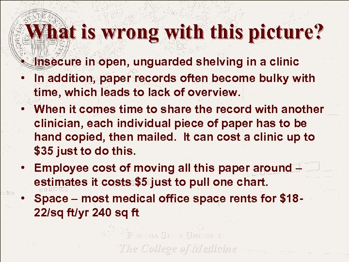 What is wrong with this picture? • Insecure in open, unguarded shelving in a