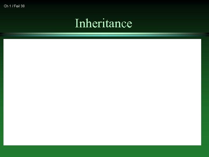 Ch 1 / Foil 38 Inheritance