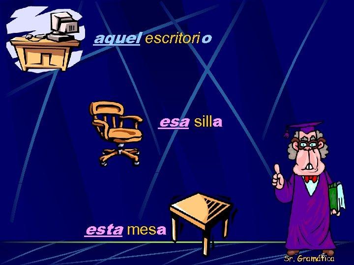 aquel escritorio esa silla esta mesa 6 Sr. Gramática