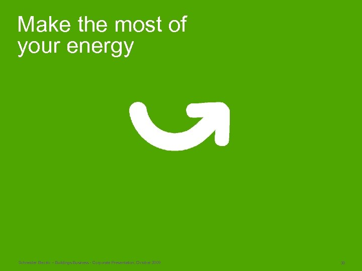 Make the most of your energy Schneider Electric – Buildings Business - Corporate Presentation,