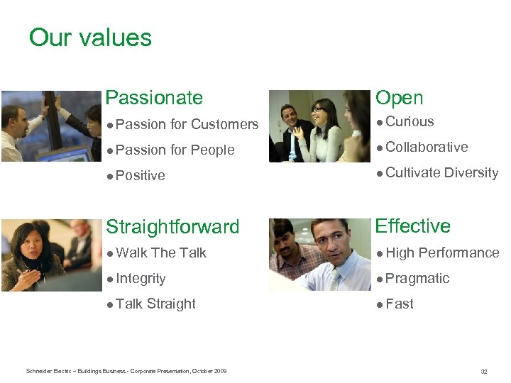 Our values Passionate Open ● Passion for Customers ● Curious ● Passion for People