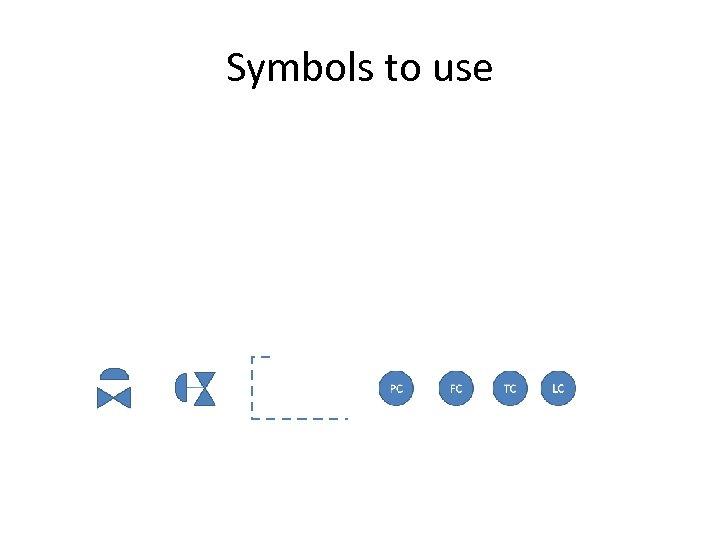 Symbols to use