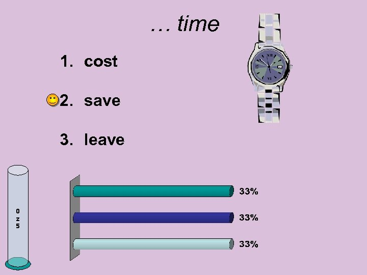 … time 1. cost 2. save 3. leave 0 z 5