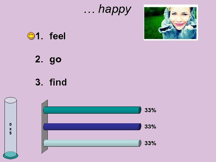 … happy 1. feel 2. go 3. find 0 z 5
